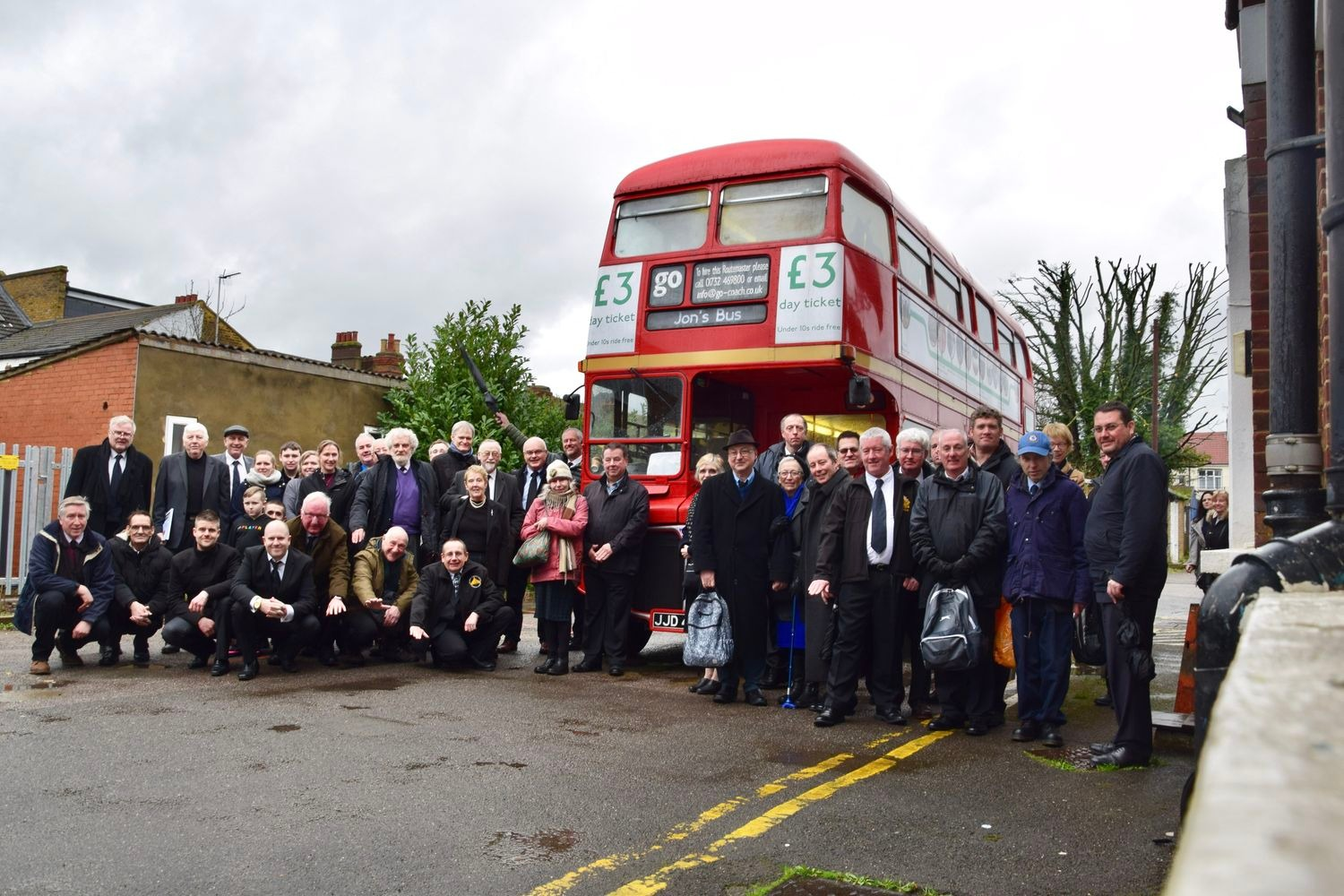 Transport Enthusiast Gets a Double Decker Send-Off
