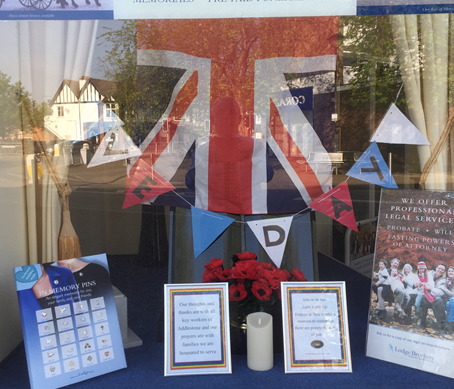 VE Day Display at Addlestone Branch