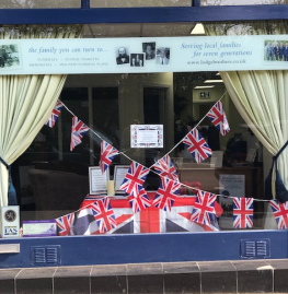 VE Day Display at Ascot Branch