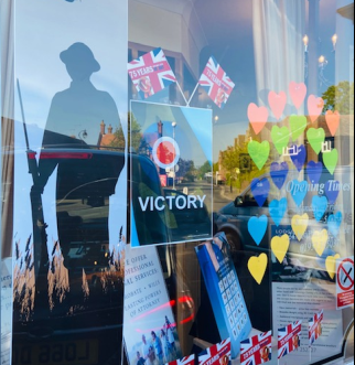 VE Day Display At Lodge Brothers & Boutell