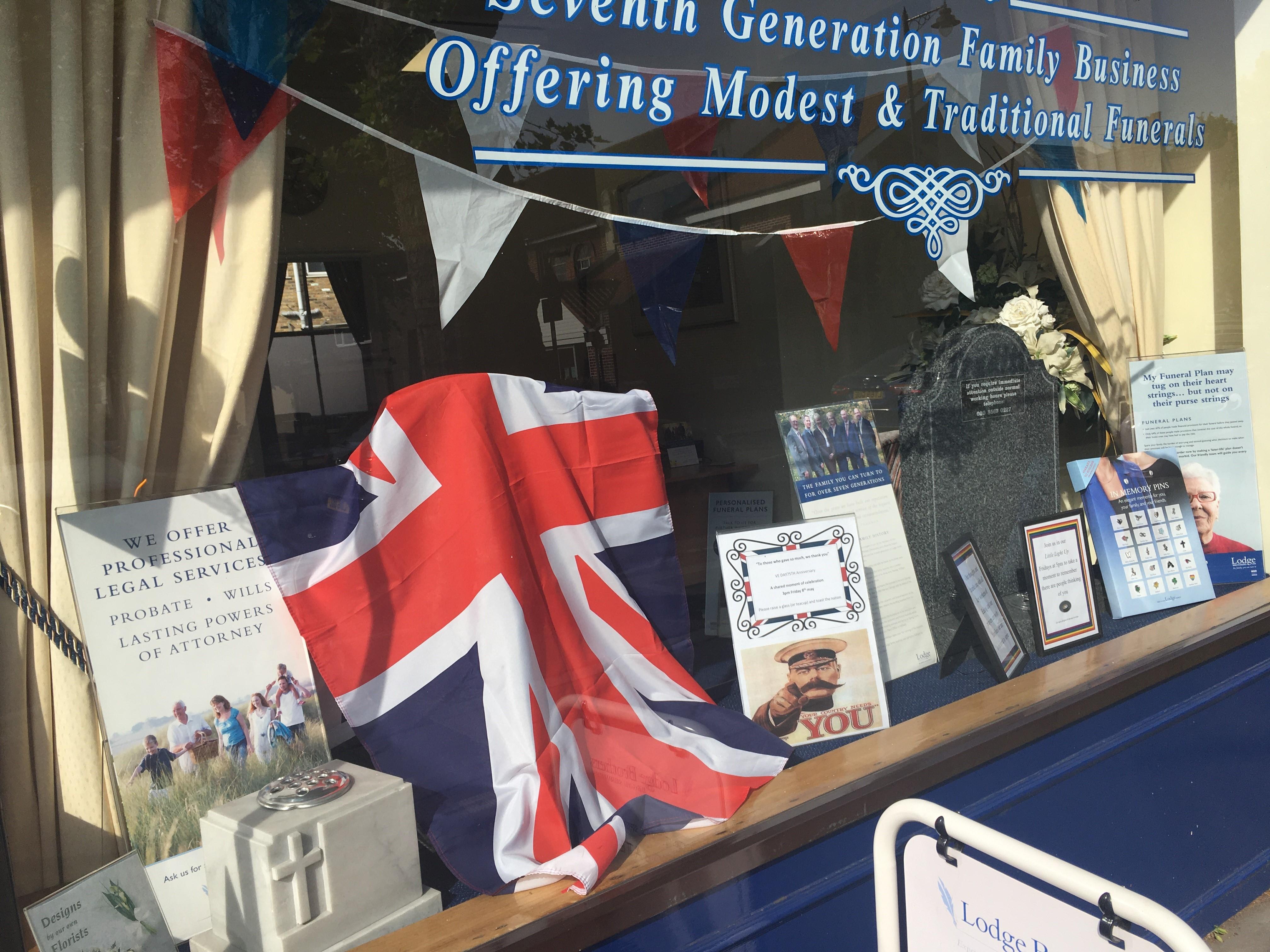 VE Day Display at Ealing Branch