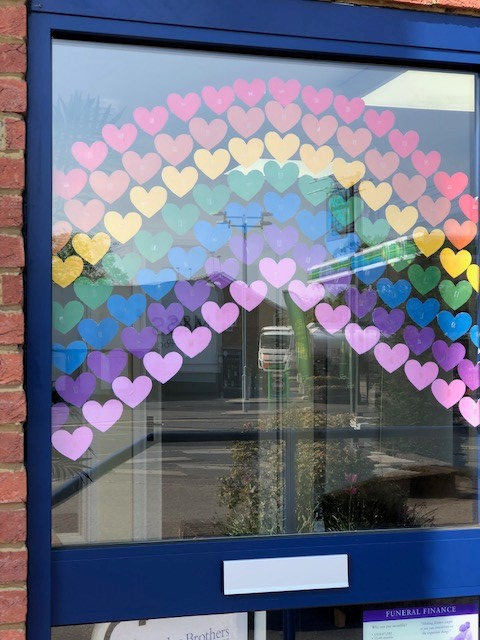 Lightwater Branch Supports the NHS Rainbow
