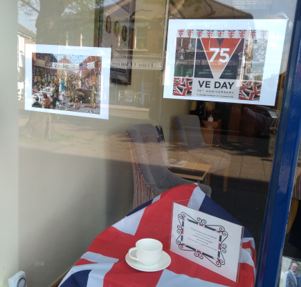 VE Day Display at Molesey Branch