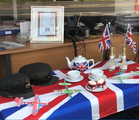 Locals DContribute to Sunningdale Branch's VE Day Display