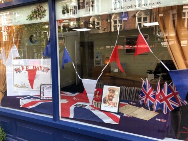 VE Day Display at Surbiton Branch