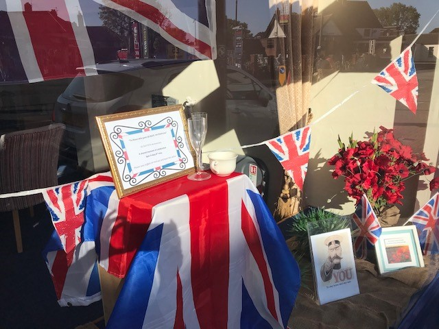 VE Day Display at Ashford Branch