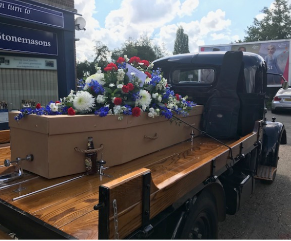 Vintage Truck Hearse for Ruislip Funeral
