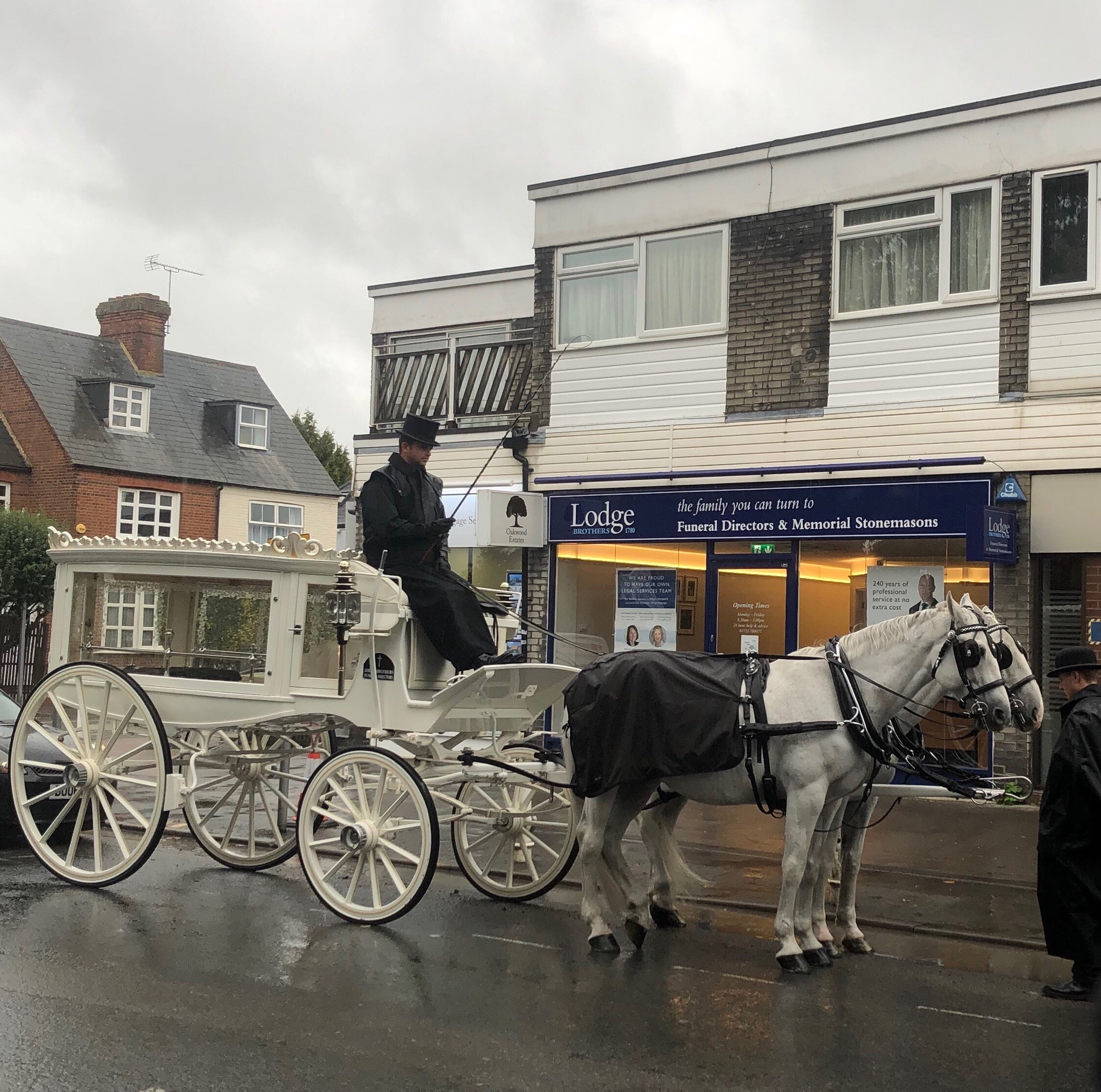Horse Drawn Hearse from Langley Branch