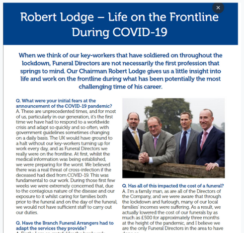 Robert Lodge – Life on the Frontline During COVID-19