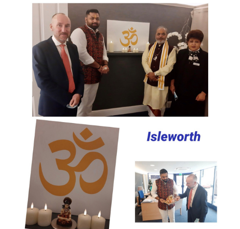 Isleworth Hindu Chapel Blessing