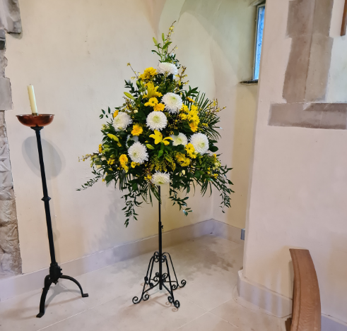 Bedfont Office Donates Floral Tribute to Local Church