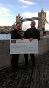 cheque presentation - Tower bridge